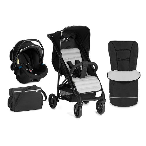 Hauck Rapid 4 Plus Travel System Shop n Drive Pushchair Set Isofix BLACK Silver
